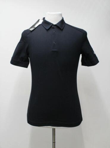RAPHA homme en coton noir à manches courtes Collared Cyclisme Polo Shirt S Bnwt