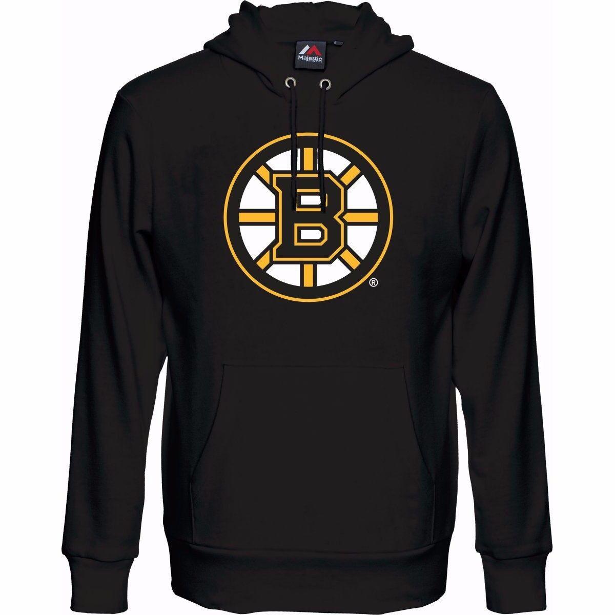 NHL Kaputzenpullover Hoody Hooded Sweater BOSTON BRUINS Logo Majestic Majestic Majestic schwarz 329f94