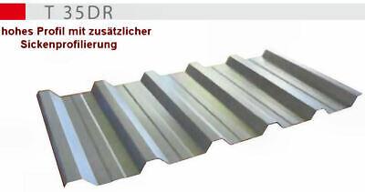 Aluzink Diversifizierte Neueste Designs Professioneller Verkauf Blechdach Trapez Hohes Profil T35dr 0.5er Stärke Ziegel & Pfannen