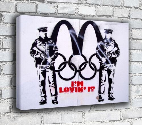 Banksy Canvas I/'m Lovin It