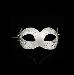 Maschera Di Venezia Columbine Bling Lusso Lupo Bianco Travestimento 518
