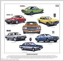 FORD GRANADA - Fine Art Print - Consul GT Ghia Sapphire Coupe Injection  Mk1 Mk2