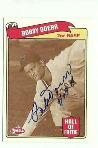 Bobby Doerr 1989 Swell autographed auto signed card Red Sox