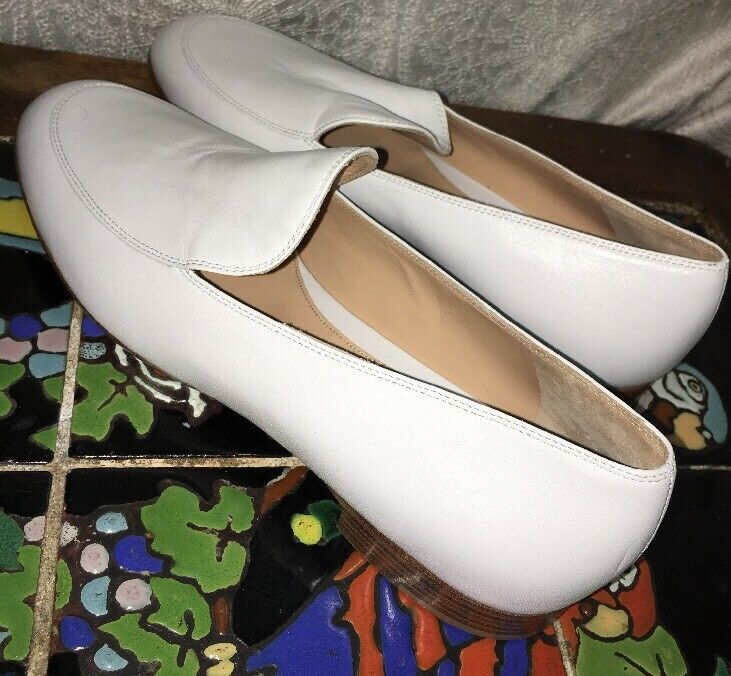 Gianvito Rossi Loafer shoe Weiß  Leder Loafer Rossi  size 40 New 07d21f