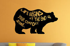 Grizzly Bear Wall Decal Wild Animal Vinyl Sticker Nature Atr Home Decor 33br