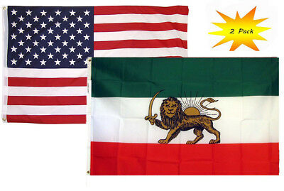 USA American /& Pakistan Country Flag Banner 2 Pack 3x5 3'x5' Wholesale Set