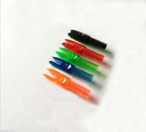 Arrow Nocks 5 Color arrow tail For Carbon Fiberglass ALuminum Shafts ID 6.0mm