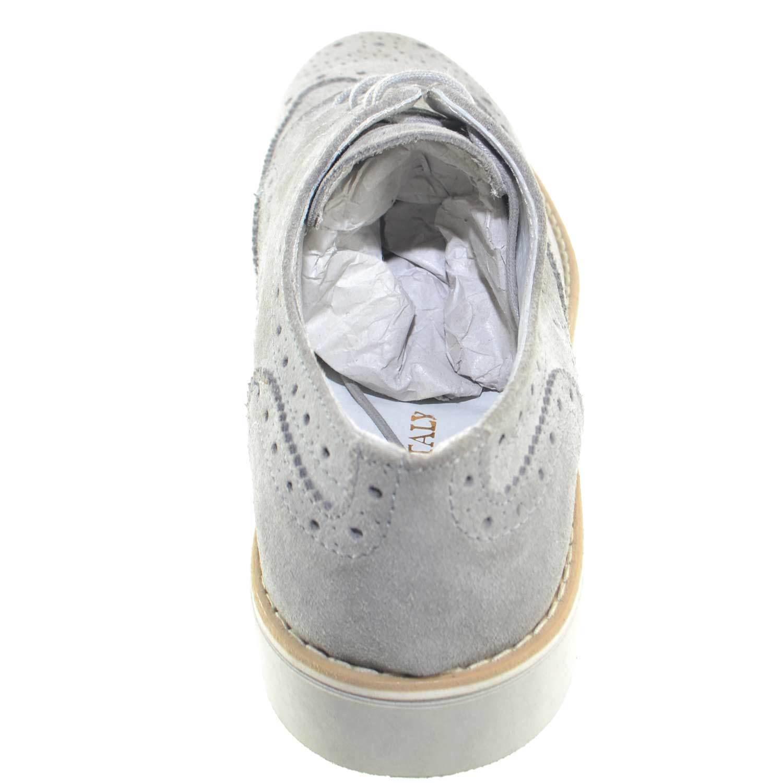 Scarpe uomo stringate vera pelle scamosciato stampa microforo moda linea linea linea giovani e35fee