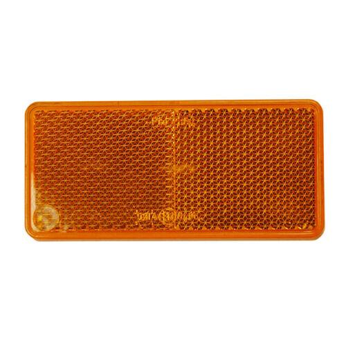 15-5432-057 Aspoeck reflector amber self adhesive oblong 94 x 44mm