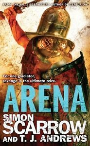 Simon-Scarrow-amp-T-Shirt-J-Andrews-Arena-Gladiateur-Tout-Neuf-GB