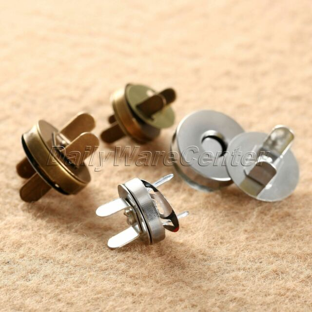 5 x Round Magnetic Clasp Pair Closure Bag 14mm Buttons Snap Close Sewing Craft