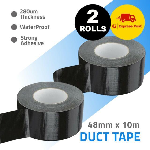 2x Duct Tape Gaffa Gaffer Self Adhesive Cloth Black 48mm x 10m Express Post