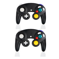 2 xWired Controller For Nintendo GameCube GC&Wii Black Console Joypad Gamepad US
