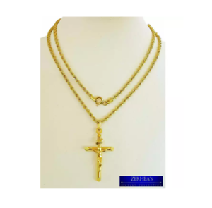Saudi-Gold-18k-Mens-Lite-Necklace
