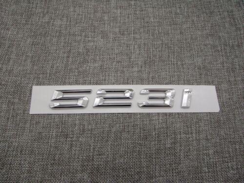 Chrome Trunk Number Letters Rear Emblem Emblems Badge Decal Sticker for BMW 523i