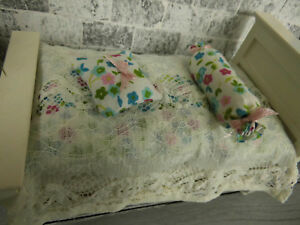 KüHn 5-teilige,frische Miniatur-sommer-bettwÄsche 1:12 Schlafzimmer,f.einzelbett Krankheiten Zu Verhindern Und Zu Heilen