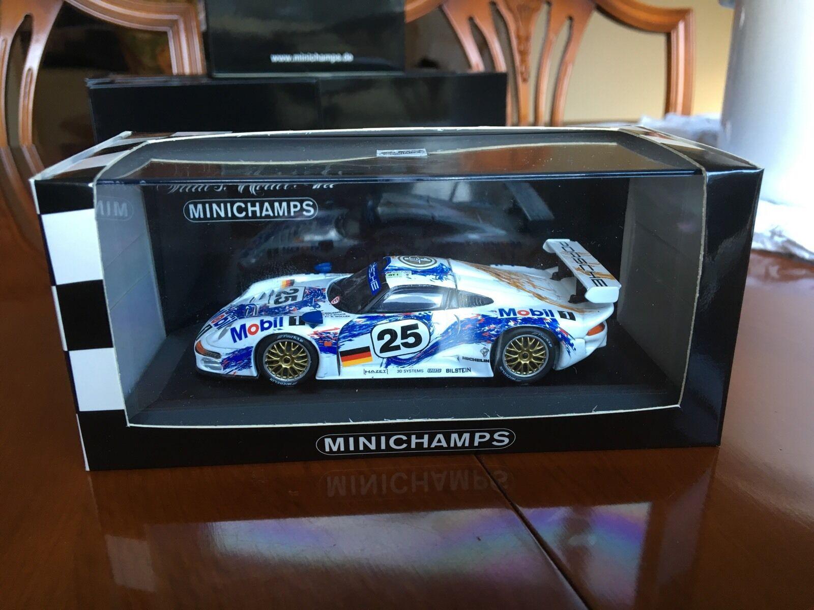 Minichamps Porsche 911 GT 1, Le Mans 1996. Team Mobil Porsche Car