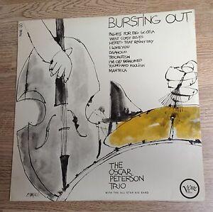 LP-original-France-Oscar-Peterson-Trio-034-Bursting-out-034-1964-quasi-NEUF
