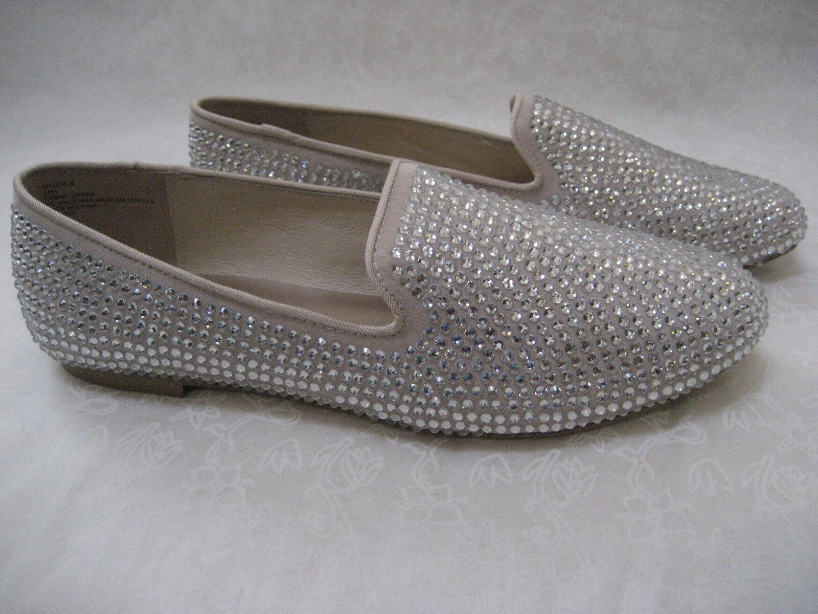 99 STEVEN BY STEVE MADDEN TAN RHINESTONE FLATS Schuhe SIZE 8 1/2 W - NEU