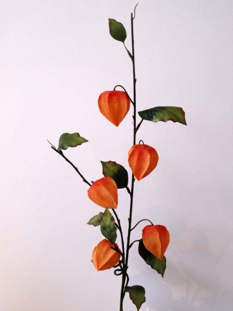 Artificial silk flowers chinese lantern physalis orange ebay artificial silk flowers chinese lantern physalis orange mightylinksfo