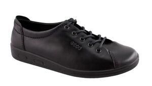Details zu Ecco Damenschuh Soft II Lace Black Gr. 36 43