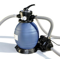 Sand Master Above Ground Swimming Pool 12 Sand Filter With Pump For Intex 71225 on Sale