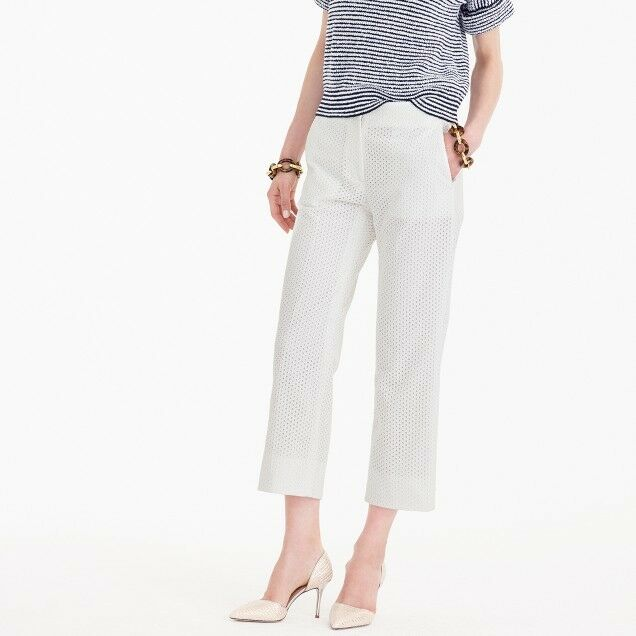 J Crew Patio Pant in Eyelet Womens Size 6