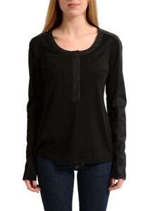 Maison-Margiela-4-Wool-Black-Long-Sleeves-Women-039-s-Blouse-Top-US-M-IT-42