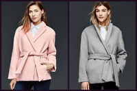 Gap Women's Wool Wrap Coat Jacket Pink Gray Size S M L