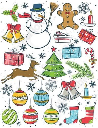 Papel De Arroz Decoupage Muñeco de Nieve Navidad árbol de Navidad Santa Craft Hoja Scrapbooking 067
