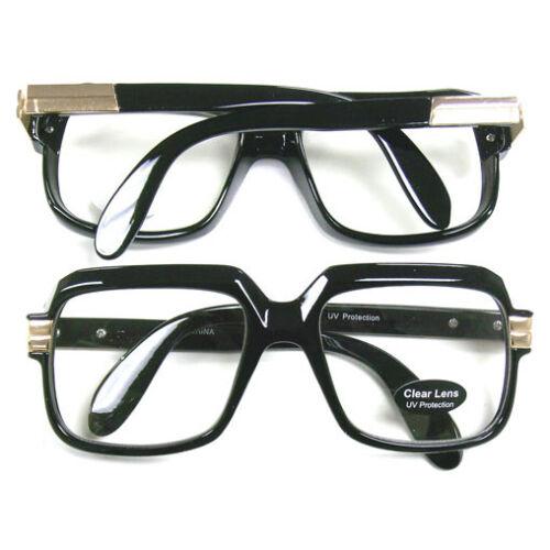 Oversized Black Hip Hop Glasses Rapper Run DMC Gazelle Rap Sunglasses 80s Metal