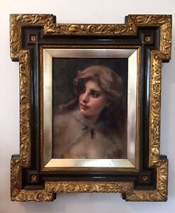 ANTIQUE-19TH-CENTURY-FRENCH-IMPRESSIONIST-PORTRAIT-OIL-ON-CANVAS
