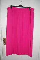 Pink Lined Long Chiffon Skirt Half Elastic Waist M&s Size 20 Length 36