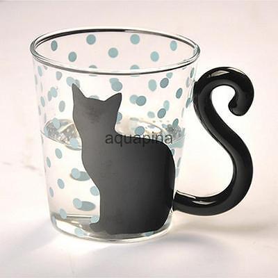 Cat Glass Milk Tea Mugs Fashion Clear Office Coffee Mug Cups Home Water Cup