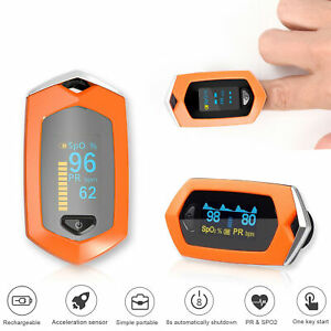 Rechargeable Fingertip Oximeter Blood Oxygen meter SpO2 Heart Rate Monitor