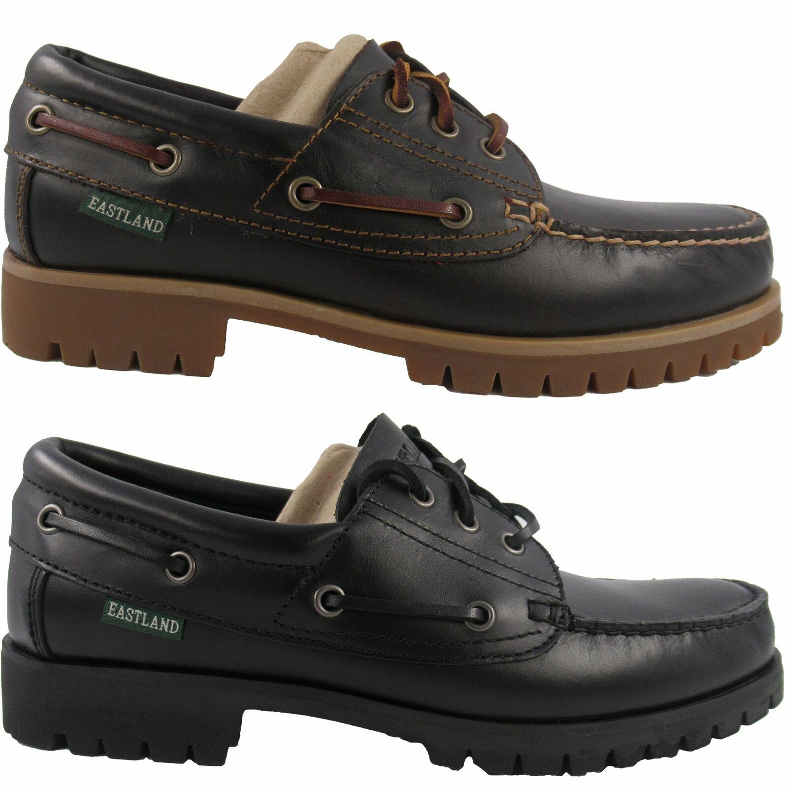 Mens Eastland Seville Classic Moc Toe Leather Oxford Shoes Black or Burgandy