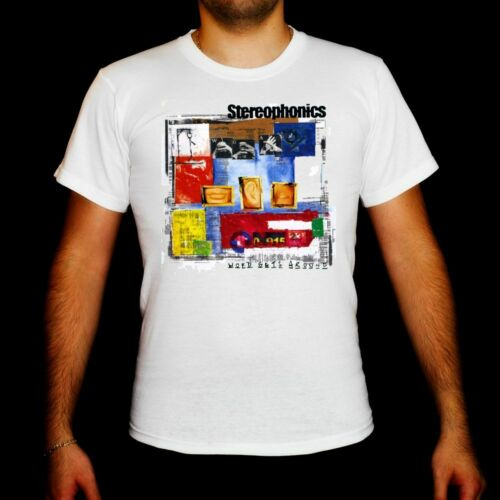 Stereophonics Word Gets Around MEN WHITE t-shirt clothes clothing unisex boy