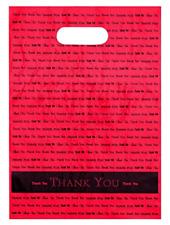 9x12 Redthank You Die Cut Handle Plastic Bags 50cs Bags Direct Brand