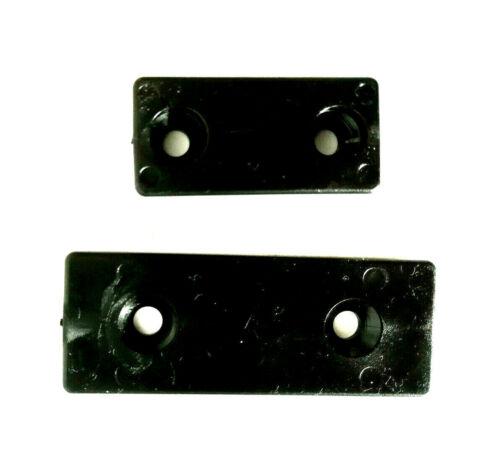 4 meubles Rapides//plastique disques pour visser Plastique//PE Noir
