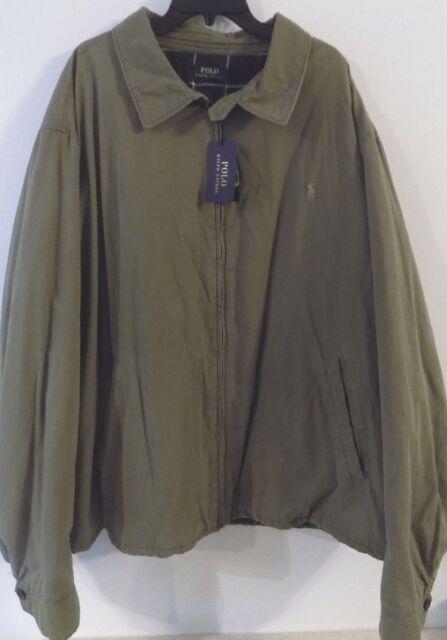 NWT POlo Ralph Lauren DEFENDER GREEN Lined LANDON Windbreaker/Jacket SZ 3XLT