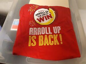 Tim-Horton-039-s-Roll-Up-the-Rim-T-Shirt-Medium-Size-Crew-Neck-Millions-Prizes