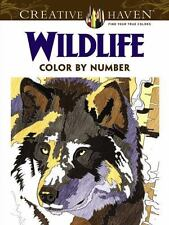 creative haven wildlife color by number coloring book paperback or softback - Creative Haven Coloring Books