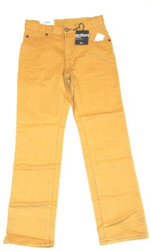 Gap  Kids Boys 12 Regular Mustard Yellow Jeans 1969 Straight Action Stretch New