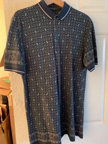 Dolce & Gabbana Men Teal Polo Shirt size 54