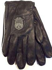 Harley Davidson Cabretta Leather Gloves -Police 1 Sheild Logo - Sz. L - NEW