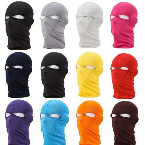 Lycra Motorcycle Riding Ski Neck Protection Full Face Mask  Black