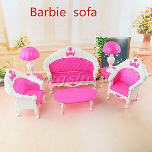Furniture Living Room Parlour Sofa Set Barbie Dollhouse