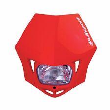 Polisport MMX Headlight CR Red Motorcycle Dirt Bike Dual Sport Enduro DOT