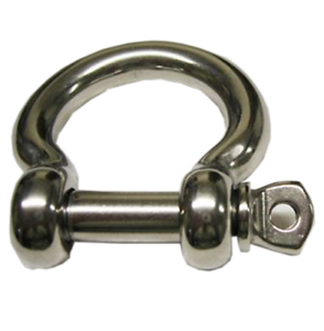6mm STAINLESS STEEL MARINE LONG DEE SHACKLE yacht boat rope chain deck rigging