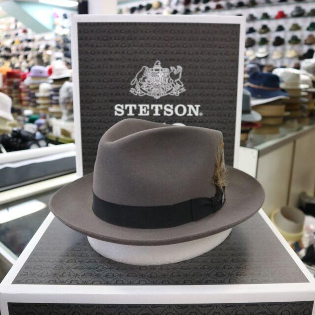 91873b33 Stetson Chatham Caribou Fur Felt C-crown Dress Hat 7 for sale online ...